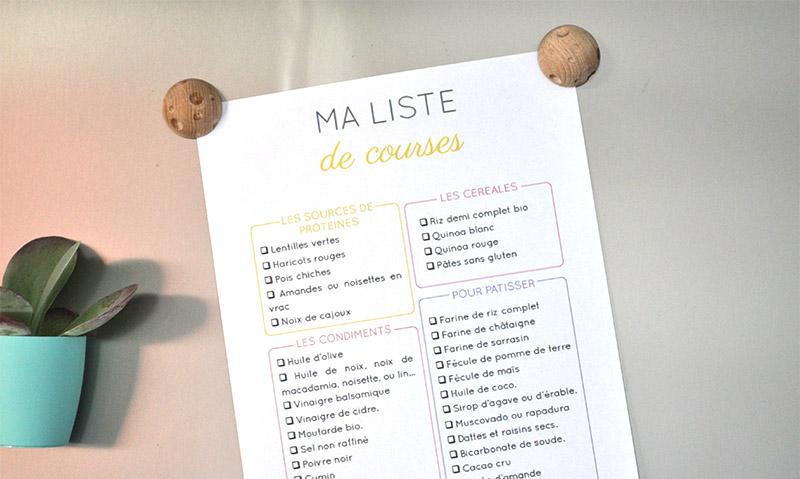 Ma liste de courses pour cuisiner de la healthy food, c'est par ici !
