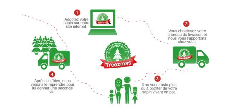 Chez Treezmas, vos sapins de Noël ne sont pas de simples arbres de décorations, ce sont des compagnons qui vous accompagnent pendant vos fêtes de fin d'année et qui auront droit à une seconde vie.