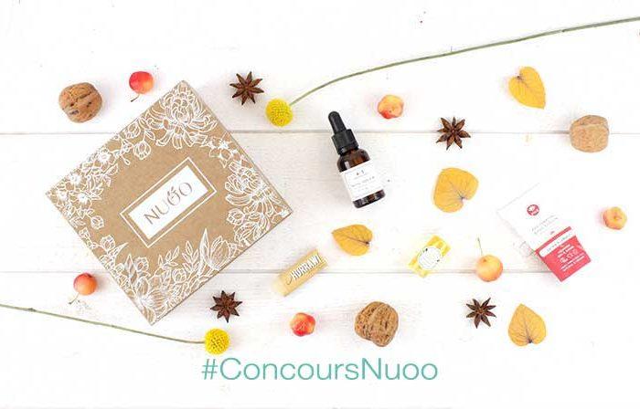 Gagnez une magnifique box beauté bio sur le blog de L'Atelier Green: la box de novembre NUOO
