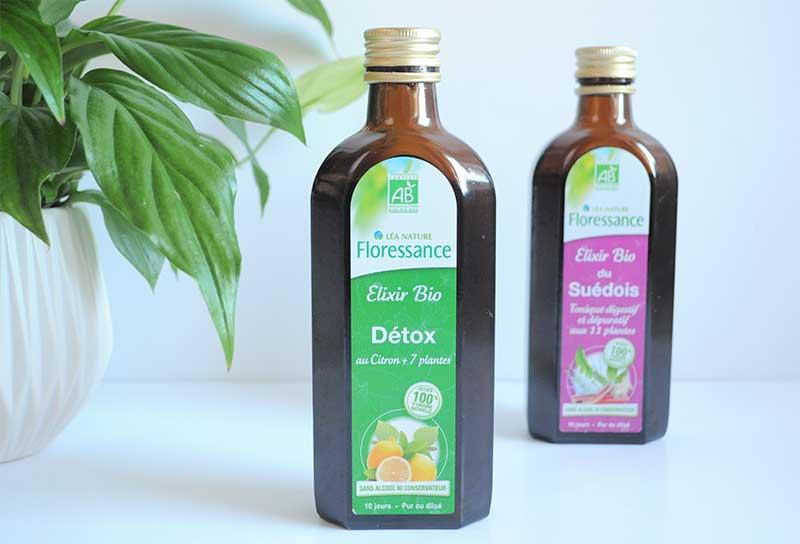 une détox express avec un élixir au jus de citron! Une macération bio associe aux vertus drainantes du thé vert et du fenouil aux vertus détox du bouleau, de l' artichaut et du romarin.