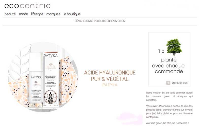 Ecocentric : Boutique en ligne de produits cosmétiques éthiques