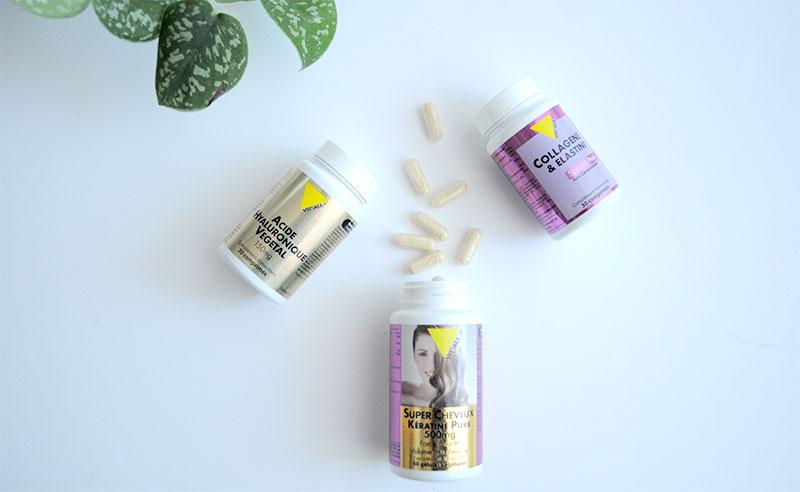 Enrichis en Vitamine C et en Zinc, les comprimés de Collagène & Elastine de VITALL+ participent à la formation normale de collagène pour assurer la fonction normale de la peau et au maintien d'une peau normale