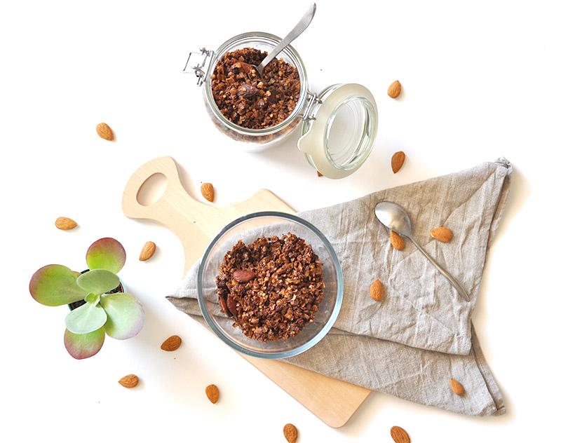 Recette Granola maison, vegan et healthy sur le blog de L'Atelier Green