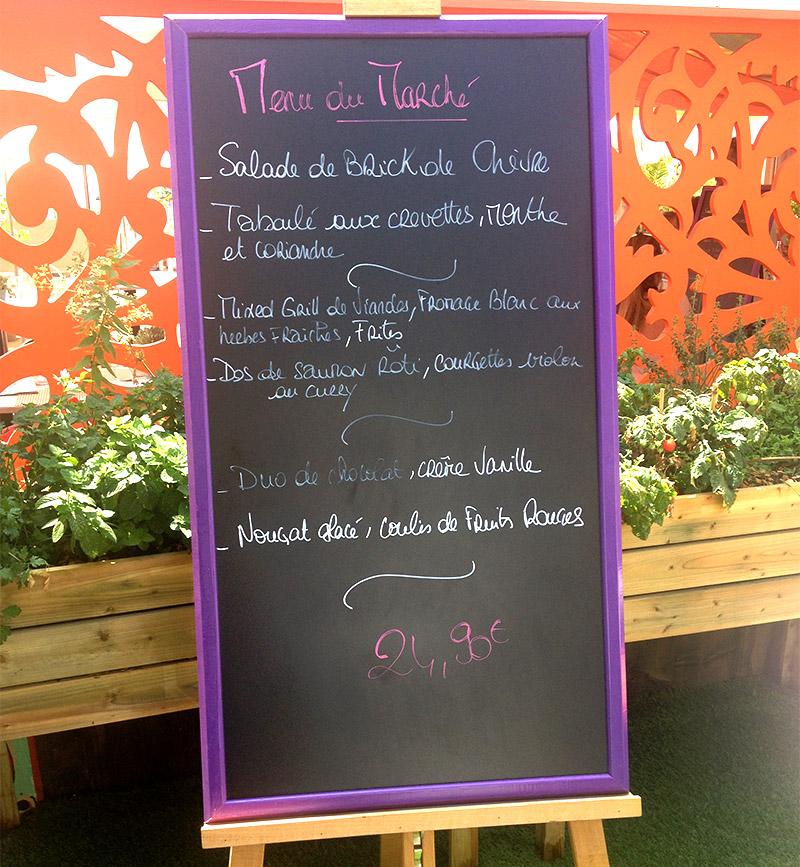 La Plage du 3.14 Hôtel vous invite à découvrir et à déguster un menu 100% bio et local à prix raisonnable!