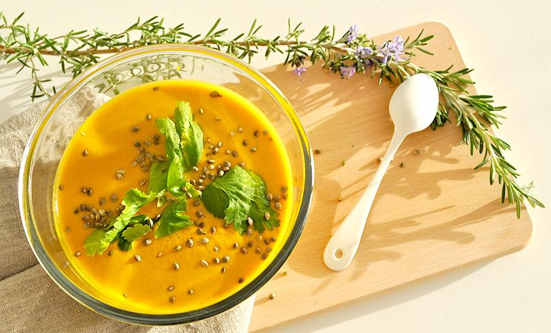 ma soupe de carotte coriandre vitamin e l 39 atelier green. Black Bedroom Furniture Sets. Home Design Ideas