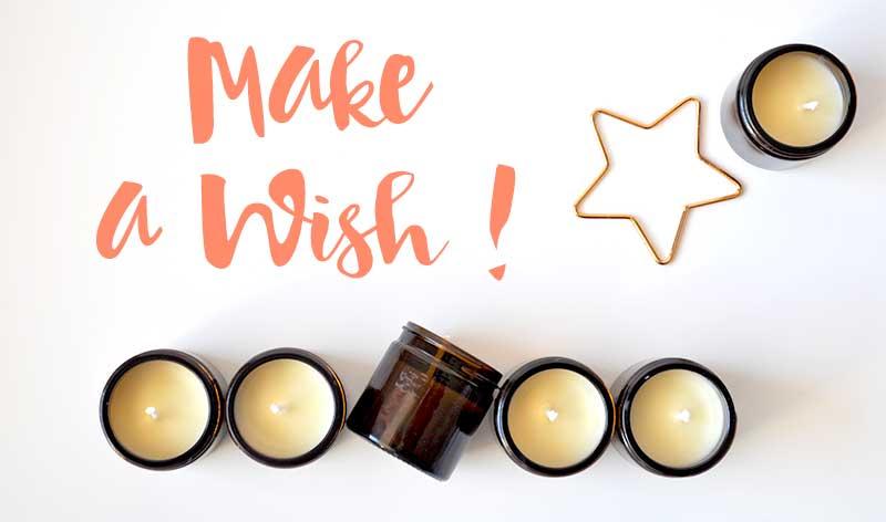 Faites un voeu avec les bougies de Noël de L'Atelier Green