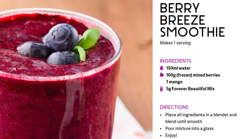Superfood: Une recette de Smoothie délicatement beautiful forever