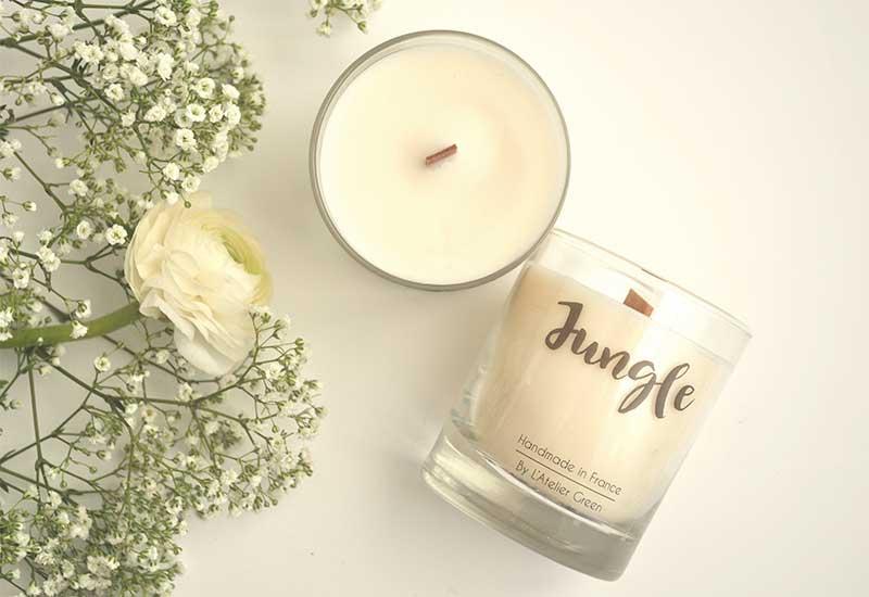 Bougie végétale parfum Jungle : Délicat et frais. Pousses de bambou