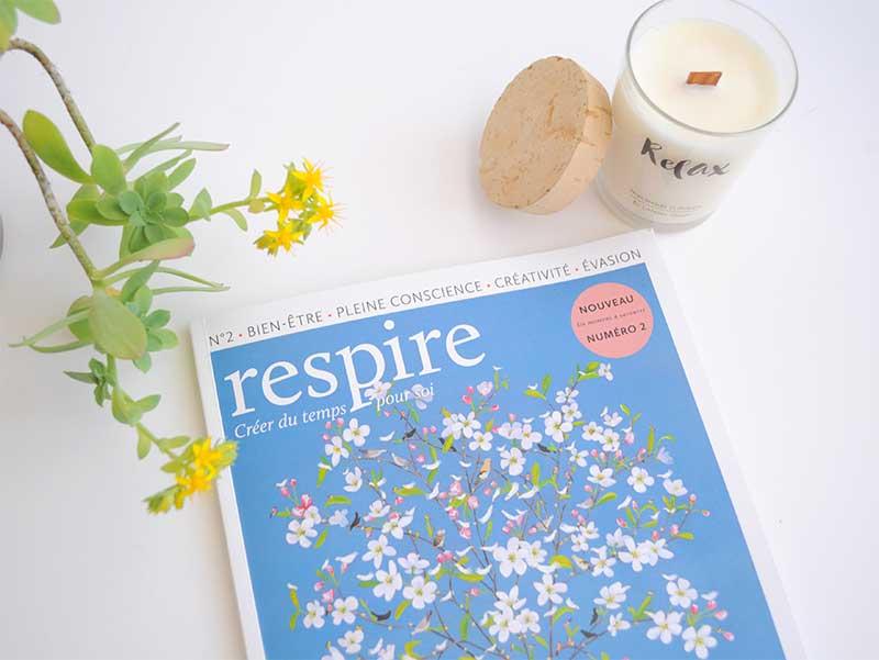Évadez-vous avec le nouveau magazine respire ! gagnez le concours en participant sur le blog de L'Atelier Green