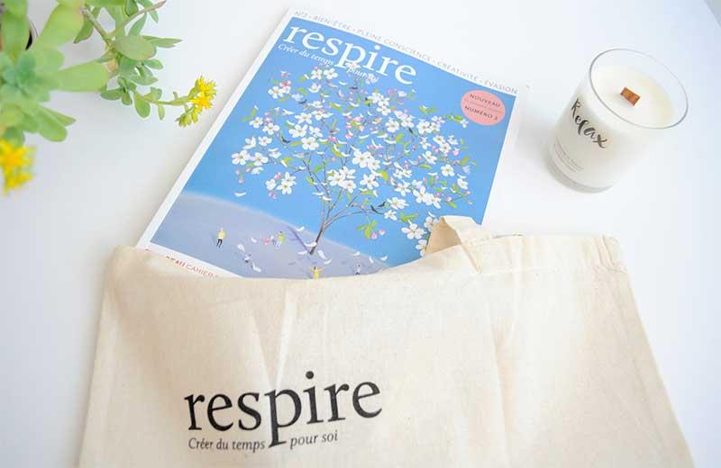 Concours Magazine Respire : Gagnez la n°2, un abonnement découverte de 3 mois et un joli tote bag