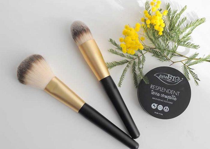 Des pinceaux à maquillage en poils synthétiques vegan ! J'adore