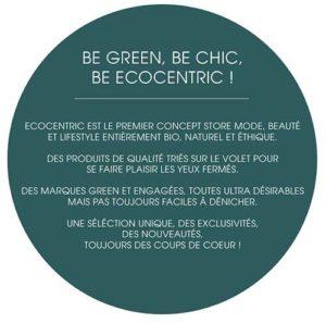 le concept éthique de la boutique en ligne Ecocentric