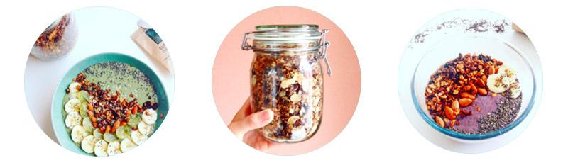 Photos instragram de mon super granola fait maison ! L'Atelier Green