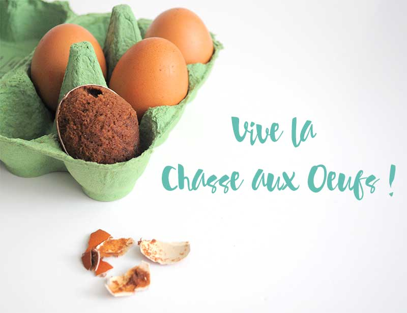 Une idée originale d'oeufs de Pâques surprise au brownie