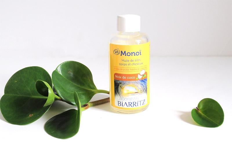Les monoïs bio des Laboratoires de Biarritz nourrissent et réparent la peau et les cheveux en offrant une délicate odeur naturelle aux effluves ensoleillées.