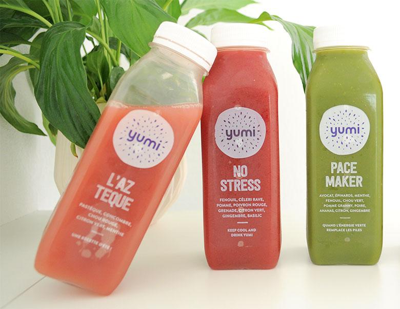 Yumi Drinks : découvrez leur coffrets de 7 jus de légumes pressés à froid