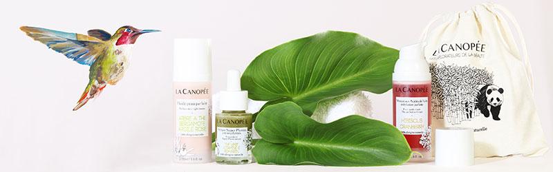 Soins pour la peau La Canopée : apaisants , régénérant. Une cosmétique 100% naturelle.