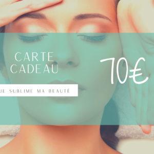 Carte Cadeau L'Atelier Green Valeur 70 euros